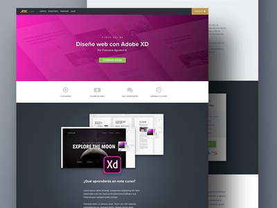 Course Page webdesign elearning landing page
