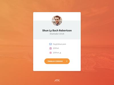 User Contact Card ui design card user profile