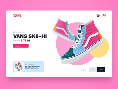 Vans Sneakers - Webdesign Excercise design homepage landing page website ux ui webdesign