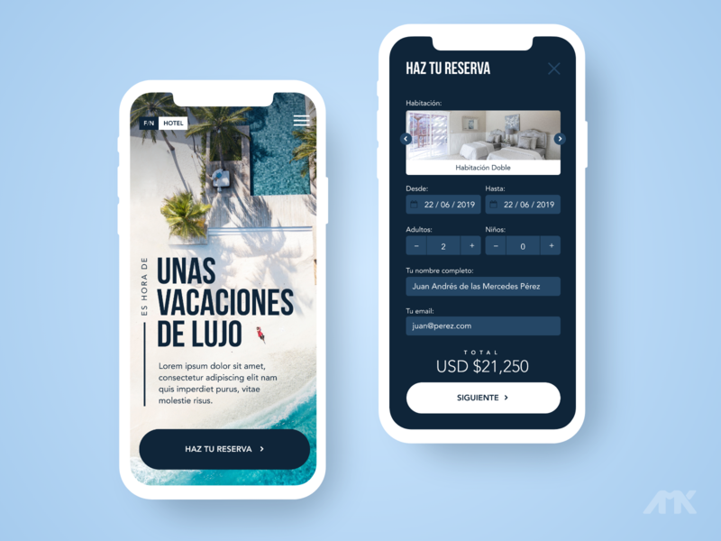 Hotel App - UI Design Concept invision studio hotel booking hotel app hotel homepage ui ux ui design