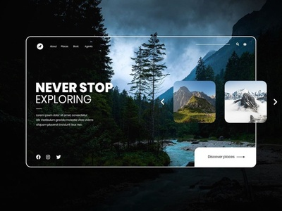 Nature exploring homepage concept photoshop webdesign concept homepage design