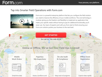 Field Software Landing Page