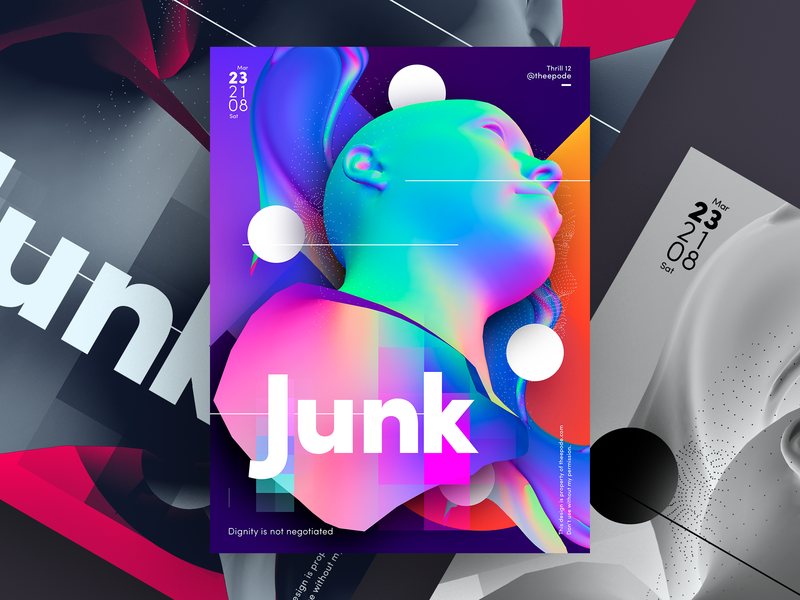 Poster Junk a poster every day junk cartel graphic design gradient poster art poster design poster a day poster abstract design theepode