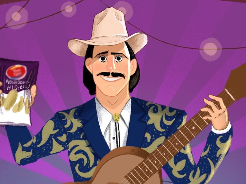 Country Musician charactedesign character procreateapp draw comic drawing design illustration