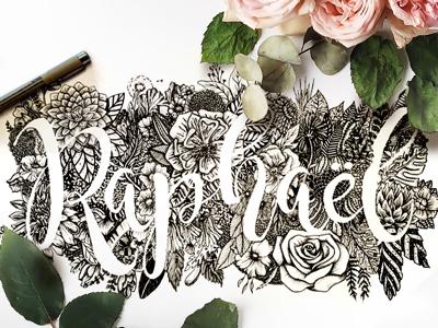 Raphaël lettering