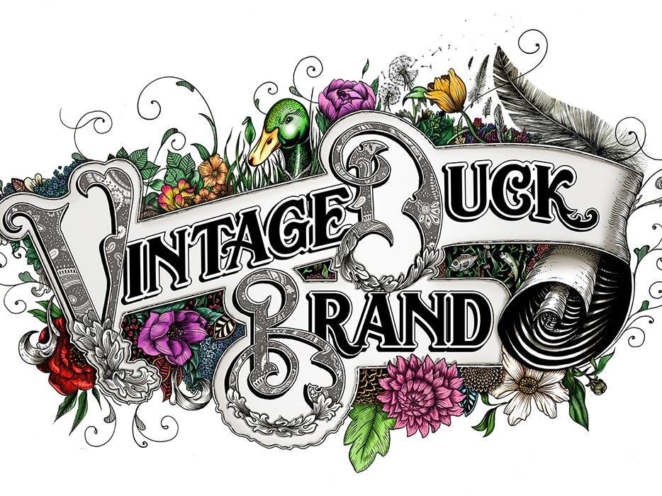 Vintage Duck Brand Lettering montreal canada art lettering artist lettering art graphic design draw branding lettering handmade design illustration typography