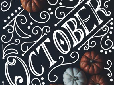 October hand lettering