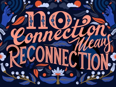 No connection mean reconnection lettering
