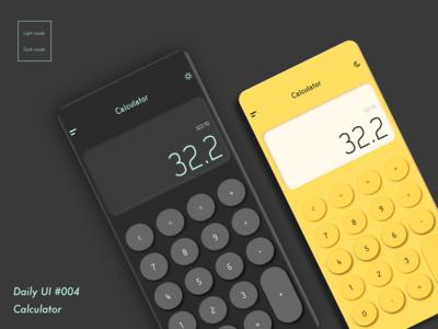 DailyUI #OO4_Calculator
