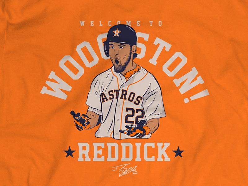 quality design d7760 26737 Josh Reddick 'WOOOSTON!' Promo Shirt by Joe Smaldone on Dribbble