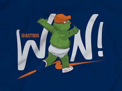 Orbit 'Win Streak' T-shirt ipad pro adobe draw orbit win apparel shirt t-shirt sports mlb baseball astros houston