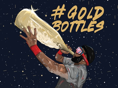 Gold Bottles Tee