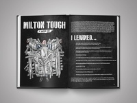 'Milton Tough' - Barstool Coffee Table Book