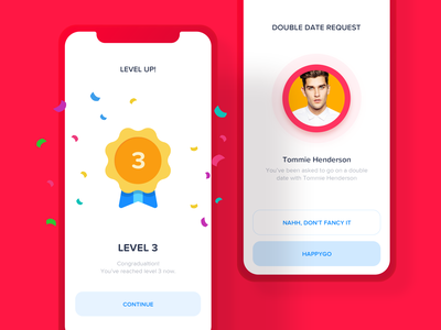 Popups prize reward level badge uxui ui ux simple clean application ios app ios app message win congratulations confetti layer popup pop