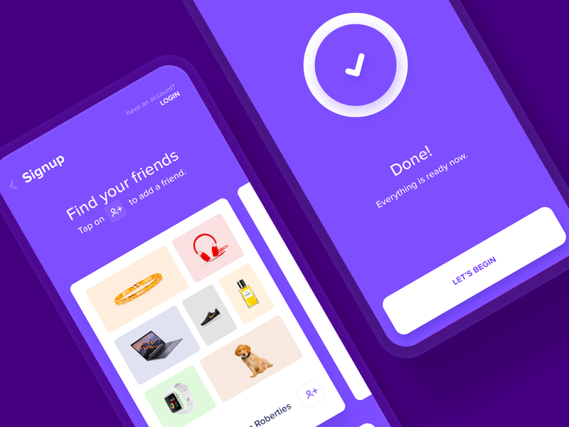 Wishli | Signup Pages app cute process account user flow signup form moodboard signin login signup process flow onboarding signup page register done purple pintrest board signup