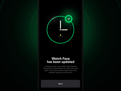 Watcher | Set Watch Face simple clean night mode night dark mode dark apply set verified update time android wear android apple watch apple watch app watch ui watchface clock watch