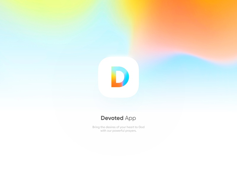 Devoted App Logo sign d ios app icon uxui minimal simple sharp clean calm mediation relaxation colorful logodesign logotype brand guidline branding brand icon logo