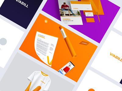 ViaBill | Brand Exploration 02 rebrand visual identity stationary branding concept minimal clean simple typography colors tshirt brand guidelines identity brand identity guide styleguide style logotype logo bradning brand