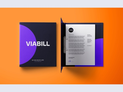 ViaBill |  Brand Exploration 03 branding concept identity brand identity modern minimal simple clean stationary typography colors styleguide style brand guidelines guideline guide rebranding rebrand branding brand