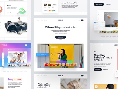 VEED.IO | Home Page Exploration simplicity minimal simple clean interface interface branding typography website concept simple brand exploration brand landing page design landing page landing homepage design home screen homepage home web design web website
