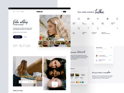VEED.IO | Home Page Exploration v.4 branding brand subtitle modern minimal clean simple web design website web landing page landingpage landing homepage editing app editor video editor edit video edit video