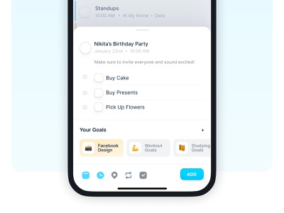 Done!  |  Create Task minimal modern clean mobile app ios note check list done time picker create task productivity calendar task management task list to do list to do todo