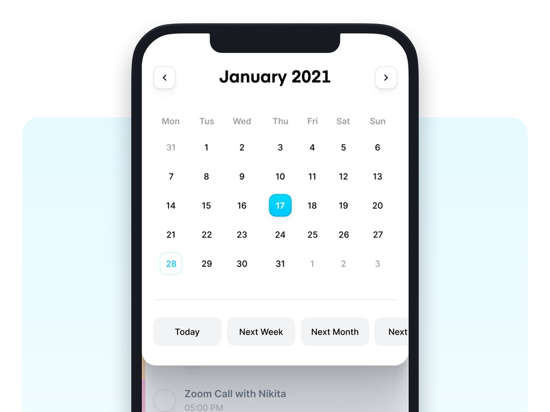 Done!     Date Picker task to do list todo to do check list ios app modern minimal clean productivity time picker time calendar picker date picker date