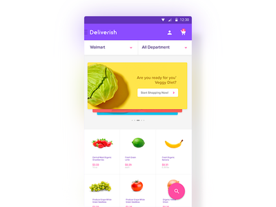 Deliverish - Grocery Store App