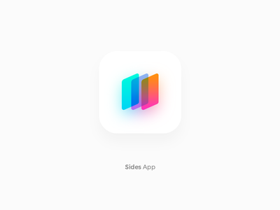 Gradient Mobile App icon tehran iran colour colourful side ios icon mobile app gradient logo