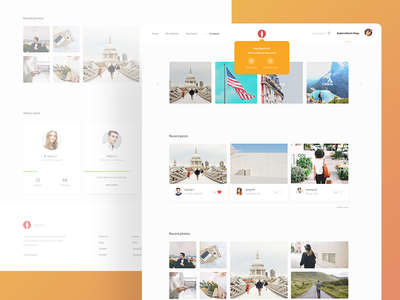 Blosim Home Page iran trip voyage journey website web app template landing landing page clean minimal travel