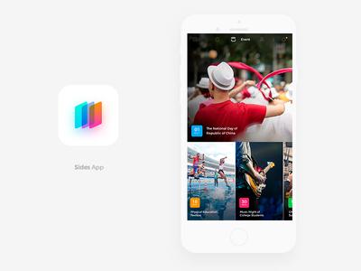 College Social Image Sharing Mobile App announcer plan date details ui ux ios event social media social application app