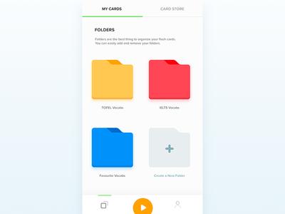 Flashy | Vocab Folder tehran iran folder game e-learn vocabularies teach education english learning app flash card flash