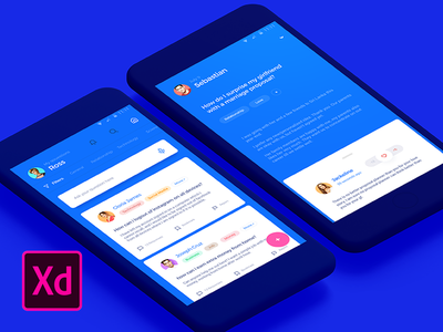 Answerly - Download Adobe XD file app application android xd adobe xd download answer question qa cards material material design
