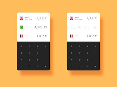 Currency Convertor App bank money flat keyboard keypad download sketch freebie free convert convertor currency