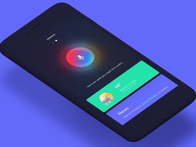 Assistme | Virtual Assistant App iran ui ux ios app weather sound siri assistant recognition voice assist