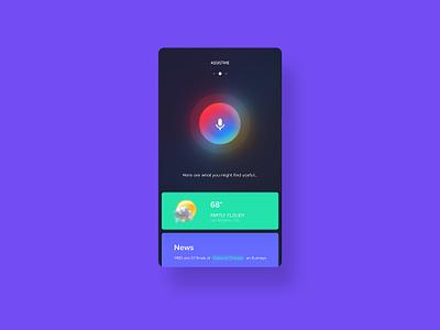 Assistme   Virtual Assistant App iran ui ux ios app weather sound siri assistant recognition voice assist