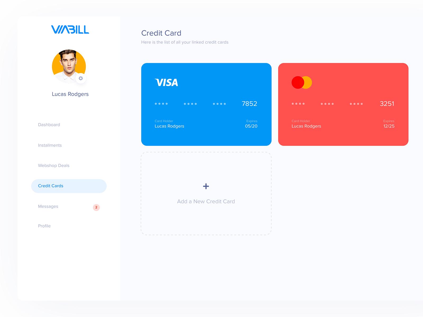 Viabill  credit cards  aryana shakibaei