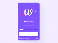 Wishli  | Onboarding Screen
