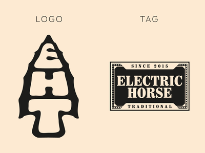 Electric Horse Tattoo | logo and tag