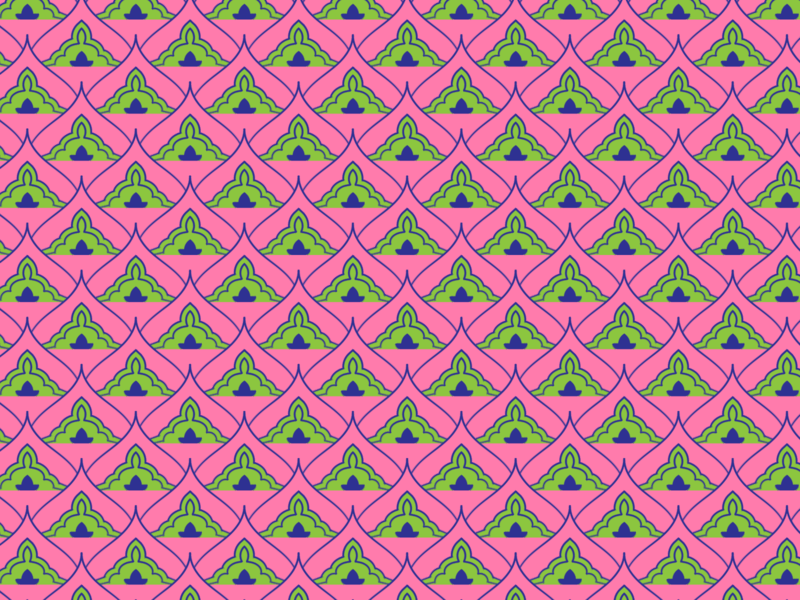 Pink and green pattern