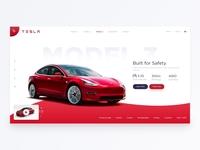 Tesla Homepage Concept
