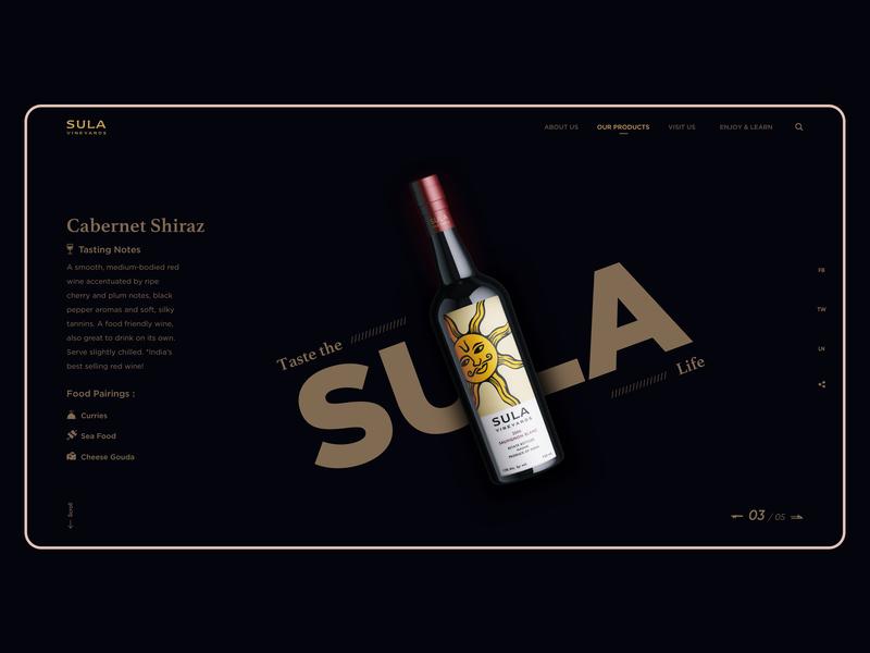 Sula Wine design graphicdesigner webdesigner designinspiration behance dribbble best shot dribbble landingpage graphicdesign webdesign web dailyui clean black sula shop wine uidesign uiux ui concept