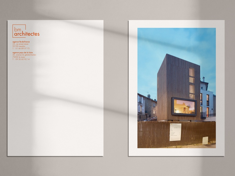 BM Architectes Letterhead letterhead architecture logo logotype branding design brand identity brand design