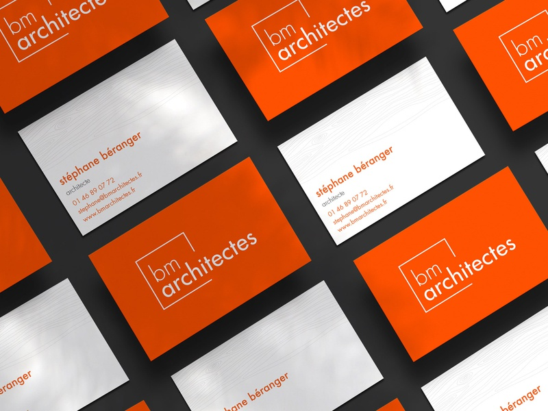 Business cards for an architecture agency business card design branding concept architecture logo logotype branding design branding brand identity brand design