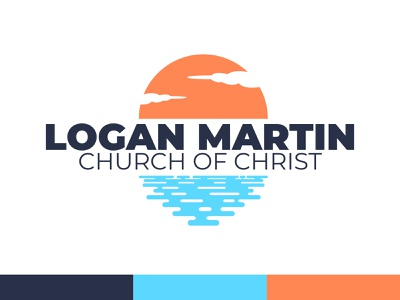 Logan Martin Church of Christ church of christ vector logos church logo church design branding sun water lake churchdesign logo church sunset logo sunset