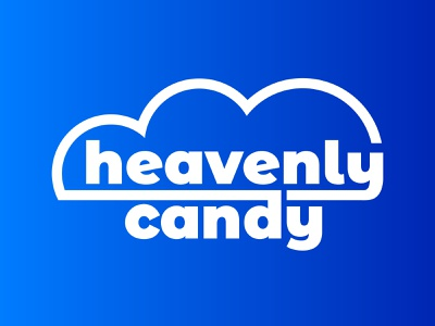 Heavenly Candy Co. Logo logotype wordmark candy georgia design vector logos logo branding