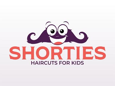 Shorties Haircuts for Kids mustache barbershop barber illustration vector design church logo church design logo branding