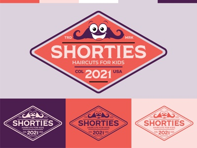 Shorties Haircuts for Kids - Badge badge design badge illustration design vector logos logo branding