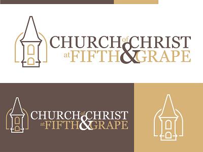 Fifth & Grape Brand Update illustration design church logo church logos church design vector logo branding