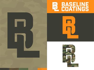 Baseline Coatings Roofing camo roofing brandingdesign illustration design logos logo vector branding